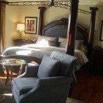 Master Bedroom in gray, brown and blue