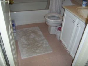 Hall Bathroom before staging
