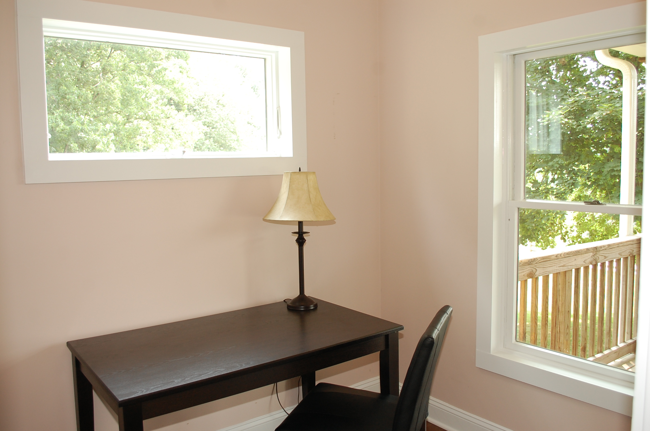 staging a vacant home with an open floor plan the