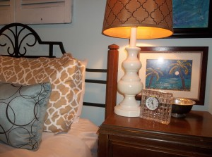 sewing table as night stand
