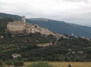 Assisi as seen from Agriturismo Girasole